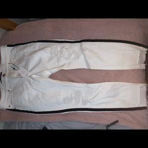EXPRESS stretch high waisted crop jeans